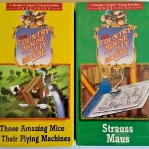 Country Mouse & City Mouse VHS Tapes NEW Lot of 2